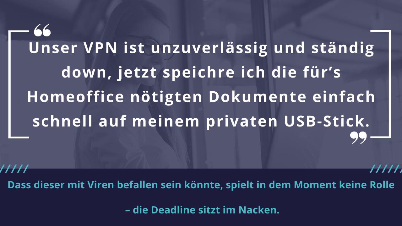Gefahr privater USB Stick